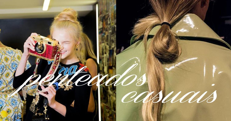 Beleza - penteados casuais