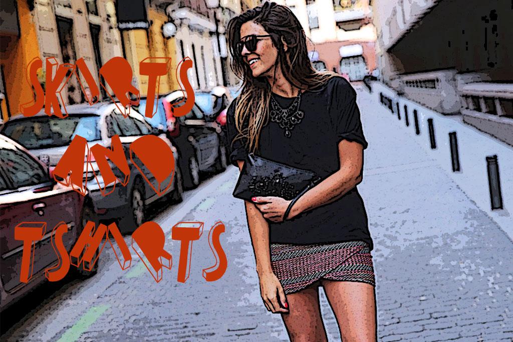 Truques de Styling - Saia e t-shirt - Blog Paula Martins 1