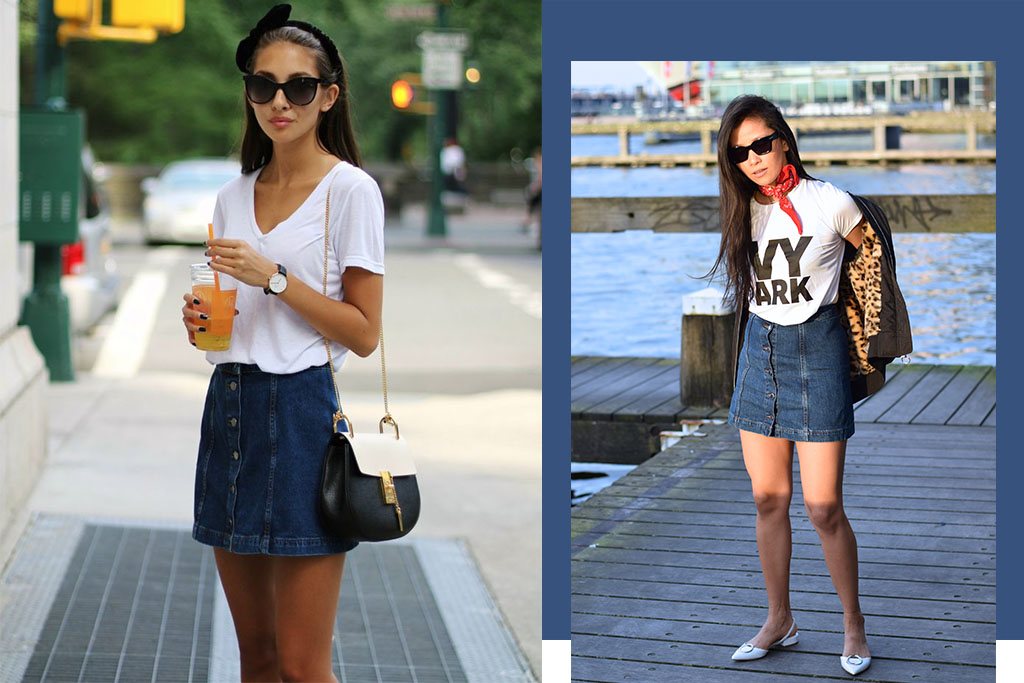 Truques de Styling - Saia e t-shirt - Blog Paula Martins 5