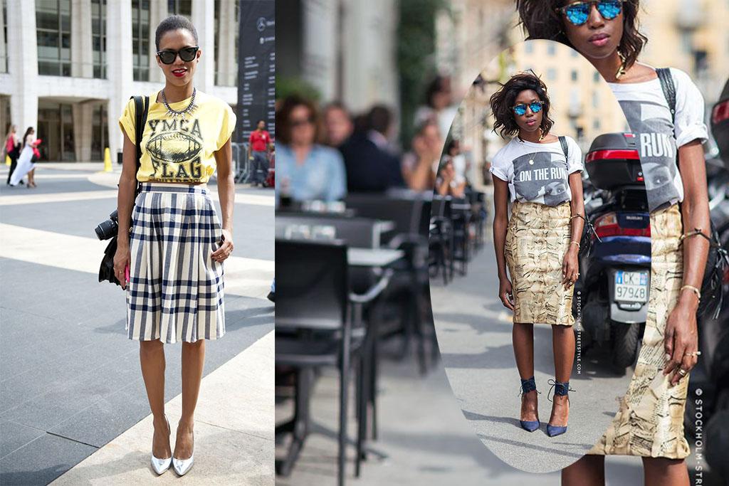 Truques de Styling - Saia e t-shirt - Blog Paula Martins 6