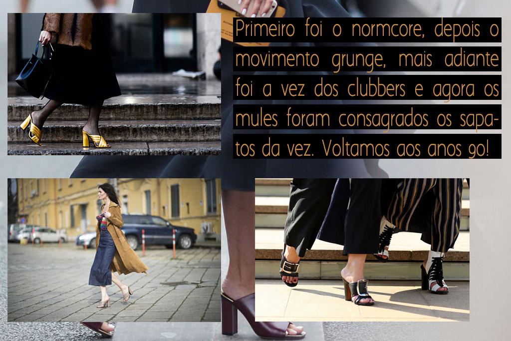 Moda - Anos 90 - Mule Sandals Street Style - Blog Paula Martins 2