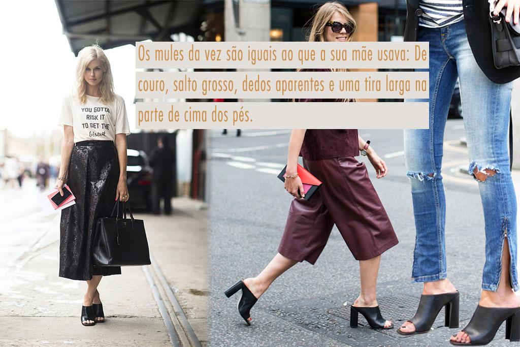Moda - Anos 90 - Mule Sandals Street Style - Blog Paula Martins 3
