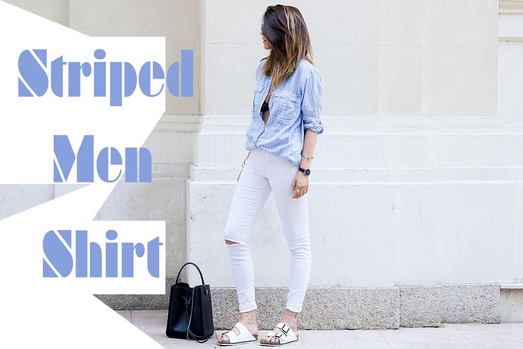 Moda - Camisa Masculina Listrada - Stiped men shirt street style - Blog Paula Martins 1